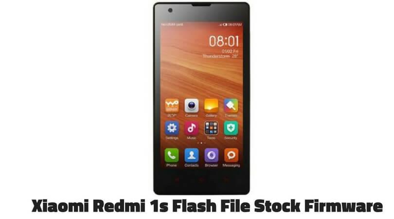 Redmi 1s Flash File