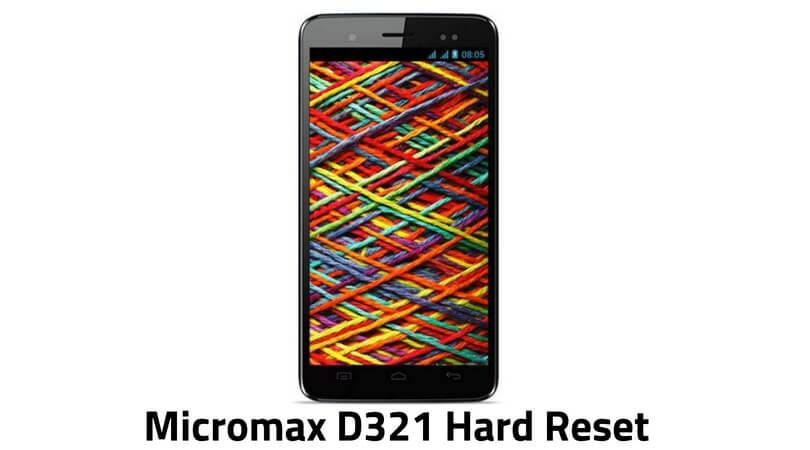 Micromax D321 Hard Reset