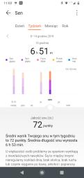 Huawei Zdrowie: analiza snu, zestawienia okresowe