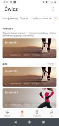 Huawei Zdrowie dostępne treningi: polecane