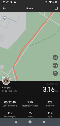 Xiaomi Amazfit GTS: wahania śladu GPS (1)
