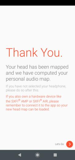 Super X-Fi: tworzenie profilu (ekran końcowy)
