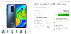 Рекламная цена Xiaomi Redmi Note 9 в x-com