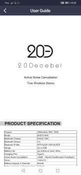 Приложение 20DECEBEL: инструкция