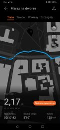 Huawei Watch Fit zapis śladu GPS (4)