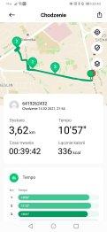 Xiaomi Mi Watch rezultaty marszu (2)