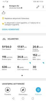 Jazda rowerem: wyniki z Suunto
