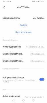 Vivo Earphones: aplikacja (2)