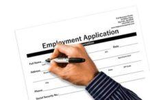 filling job application