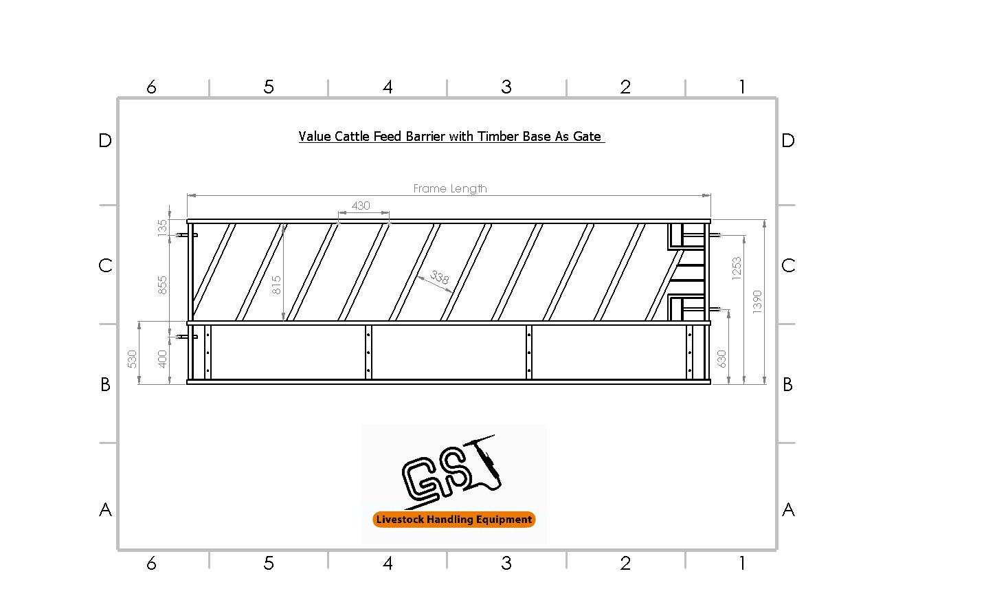 Value Cattle Feed Barrier With Timber Base As Gate