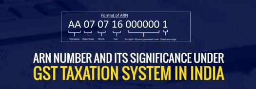 ARN Number Status Under GST
