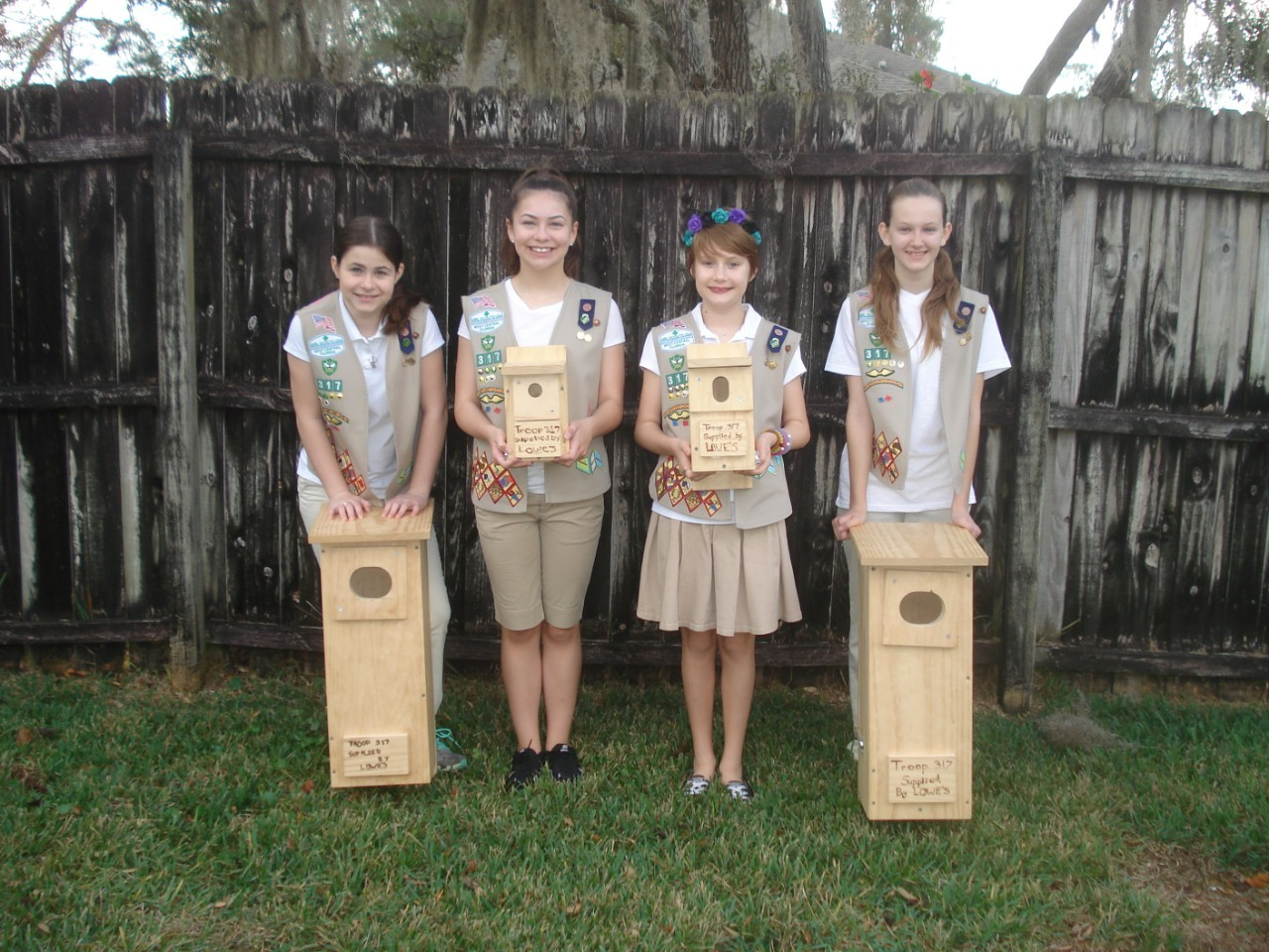 Troop 317 Earns The Girl Scout Silver Award