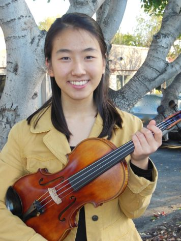 Concertmaster Young Hye Lee with the Otto Sand Violin.