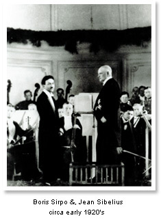 Early in his career, Sirpo was Assistant Conductor for Sibelius.