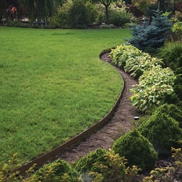 bordure de jardin flexible marron 15