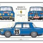 Poster Renault R8 Gordini Gt2i