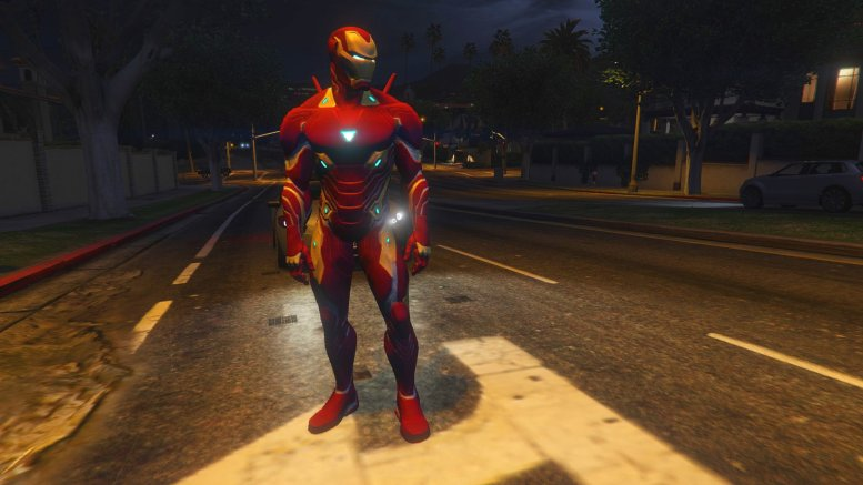 GTA 5 Iron man MK50 MCOC version [Add-on Ped] | GTA V