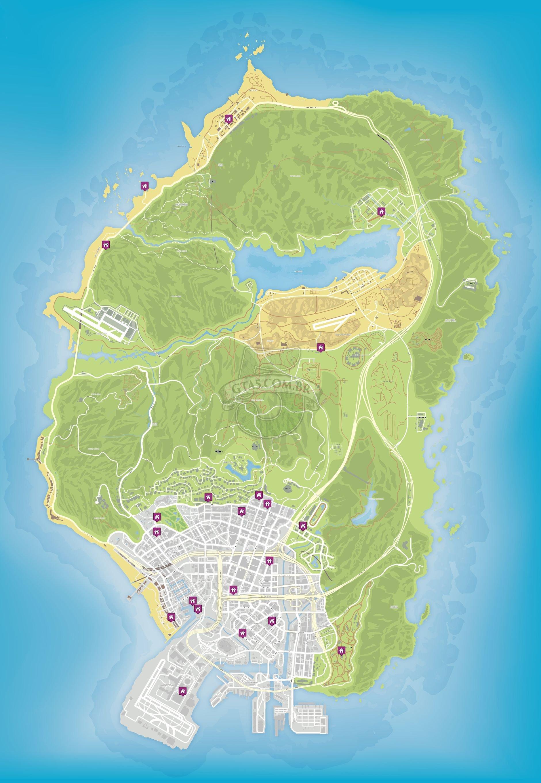 Mapas Do GTA V GTA 5