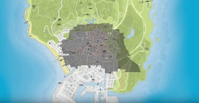 GTA Vs Map Compared With The Divisions New York GTA 5 Cheats