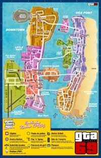 Carte des rodéos (PSP) de GTA VCS
