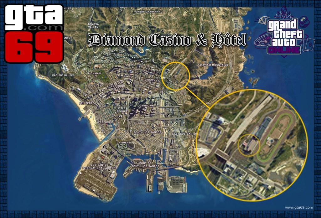 Carte emplacement du Casino