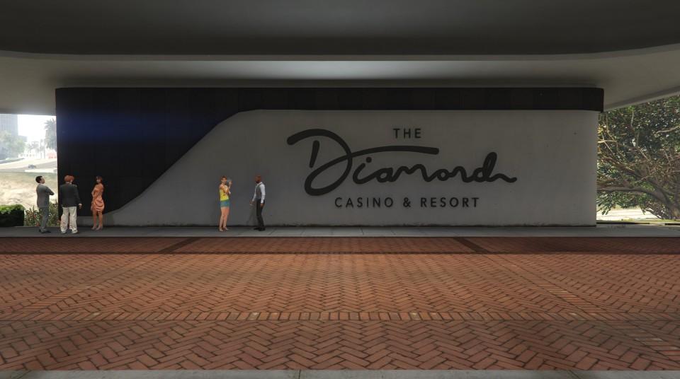 """Travaux à l'entrée du """"Diamond Casino & Hôtel"""" - Semaine"""