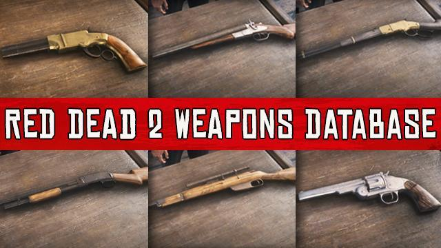 RDR 2 & Red Dead Online All Weapons Database: Statistics, Prices ...