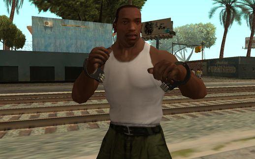 GTA San Andreas GTA V Handcuffs For CJ (Heist DLC) Mod ...