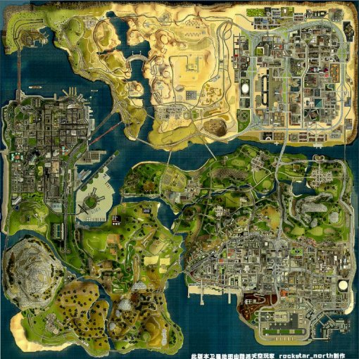 GTA San Andreas HD Satellite Map Mod   GTAinside com HD Satellite Map