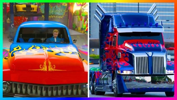 TOP 5 BEST GTA 5 SLAMVAN CUSTOM DESIGNS + Livery/Paintjob Combos Like  Optimus Prime & MORE!