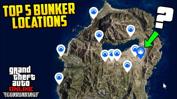 TOP 5 BUNKER LOCATIONS + ALL INTERIOR CUSTOMIZATION! (GTA Online Gun  Running DLC)