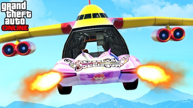 GTA 5 - EPIC CARGO PLANE x SCRAMJET STUNT & CUSTOM GAME MODES (Funny  Moments & Fails)