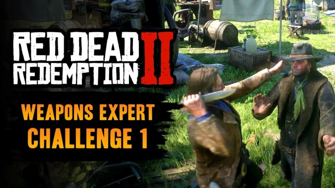 Red Dead Redemption 2 Weapons Expert Challenge #1 Guide - Kill 3 enemies  with a knife