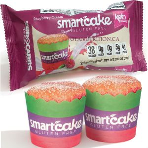 Smart Baking Company Smartcake Raspberry Cream 60g. Zero Carb, Zero Sugar, Zero Starch, Low Calorie, High Fiber, High Protein, NON GMO