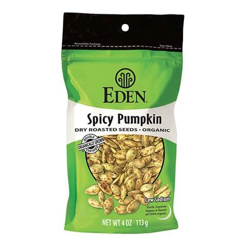 Eden Foods Organic Spicy Pumpkin Seeds 113g. Organic, High Protein, Low carb, High Fiber, Low Salt, Kosher