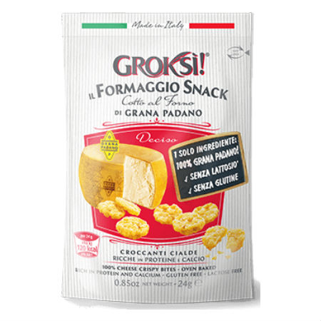GrokSi Crispy cheese Bites Deciso 24g. Gluten Free, Lactose Free, Low carb, Oven Baked, High Protein, Does Not Require Refrigeration.
