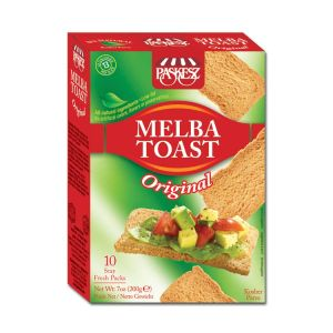 Paskesz Melba Toast Original 200g. Kosher, All natural Ingredients, No Artificial Colors, Flavors or Preservatives