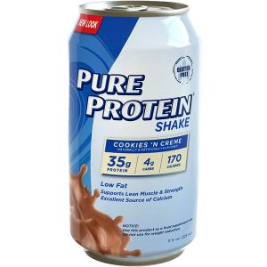 Pure Protein Shake Cookies 'N Cream 325ml. Low fat, Low Carb, High Protein. Supports Lean Muscle & Strength Excellent Source of Calcium.