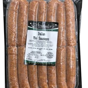 Stemmler's Italian Mini Sausages 0.88lb. Gluten Free, MSG Free, Lactose Free, Soy Free, Corn Free, Nitrate Free, Mustard  Free