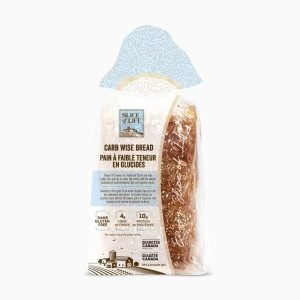 Slice of Life Carb Wise Bread 550g. A wise choice for a balanced diet, Gluten Free, High in Protein, High-Fiber, No Sugar