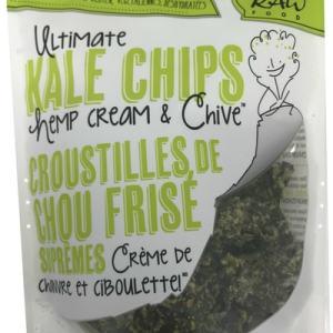 Solar Raw Food Ultimate Kale Chips Hemp Cream & Chive 100g. Organic, Raw, Gluten-Free, Vegan, Dehydrated
