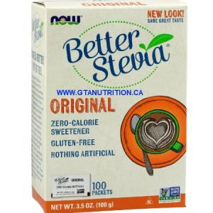 Better Stevia 100 Packets Zero-Calorie Sweetener. Gluten Free, Non GMO, Sugar Free, Low Sodium, Vegan/Vegetarian, Halal, Kosher