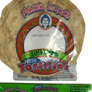 Mama Lupe's Low Carb Fresh Tortillas Bread 360g. Low Carb, Zero Saturated Fat, Zero trans Fats, Low Fat, Zero Cholesterol, No Hydrogenated oils, High Fiber, High Protein, Kosher Tortillas Bread