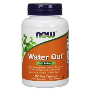 Now Water Out Fluid Balance 100 Veg Capsules. A Dietary Supplement, Nut Free, Soy Free, Non GMO,  Egg Free, Dairy Free, Sugar Free, Low Sodium, Vegan/Vegetarian,  Kosher