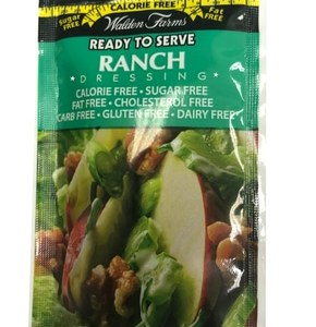 WaldenFarms - Ranch Single Serve Packets 1oz. No Calories, fat, Carbs, gluten or sugars, Kosher