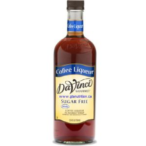 DaVinci Gourmet Sugar Free Syrup Coffee Liqueur 750ml - No Calories, Sugar Free, Great Taste. Sweetened With Splenda For The Same Premium Taste as The Classic Syrups, But Without The Calories. Low Carb, Kosher