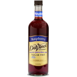DaVinci Gourmet Sugar Free Syrup Raspberry 750ml - No Calories, Sugar Free, Great Taste. Sweetened With Splenda For The Same Premium Taste as The Classic Syrups, But Without The Calories. Low Carb, Kosher