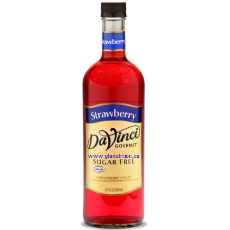 DaVinci Gourmet Sugar Free Syrup Strawberry 750ml - No Calories, Sugar Free, Great Taste. Sweetened With Splenda For The Same Premium Taste as The Classic Syrups, But Without The Calories. Low Carb, Kosher