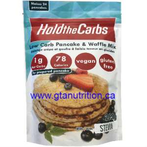 Hold The Carbs Low Carb Pancake & Waffle Mix Large Bag 255g | Diabetic Friendly, Low Carb, Gluten Free, Vegan, with Stevia.