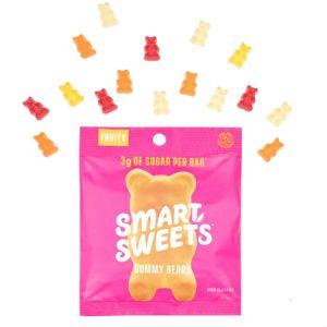 Smart Sweets Fruity Gummy Bears Free From Sugar Alcohol 50g | Kick Sugar Keep Candy |A Mix Flavors of Raspberry - Apple - Lemon - Peach